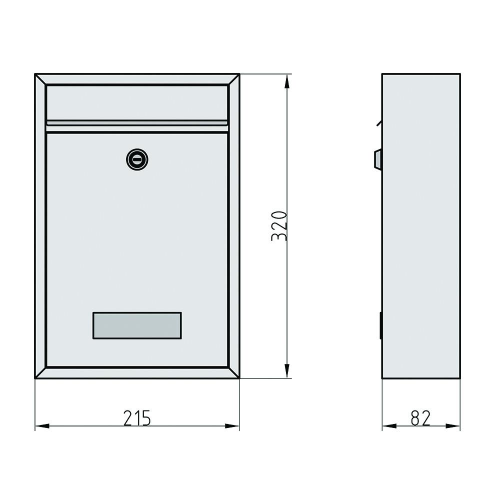 briefkasten bk 100 edelstahl schloss. Black Bedroom Furniture Sets. Home Design Ideas
